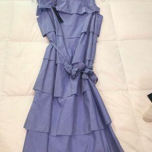 Talbots multi tiered sleeveless summer dress.